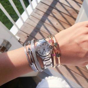 VITA FEDE Mini Titan Pink Crystal Gold Bracelet XS